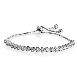 MarkChic AAA Cubic Zirconia Adjustable Heart Bracelet for Women