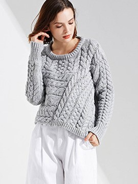 Ericdress Short Thick Pullover Knitwear