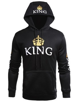 Ericdress Pullover Loose Mens Hoodies