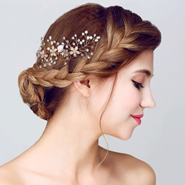 Ericdress Handmade Pearl Rhinestone Wedding Hair for Wedding