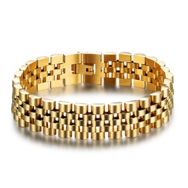 Ericdress Retro Style Stainless Steel Gold Plating Men's Bracelet