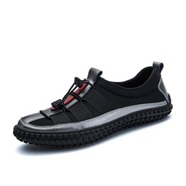 Ericdress Personality Color Block Elastic Band Men's Loafers