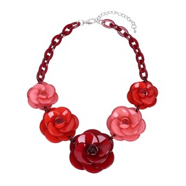 Ericdress All Match Vintage Acrylic Flower Pendant Women's Necklace