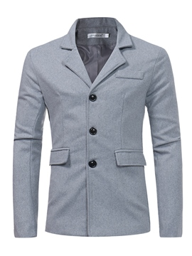Ericdress Woolen Plain Lapel Casual Men's Blazer