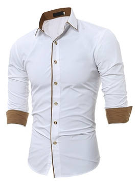 Ericdress Long Sleeve Unique Slim Men's Shirt