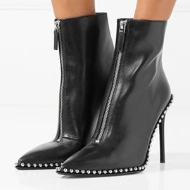 Ericdress Purfle Front Zipper High Heel Boots with Beads