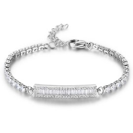 MarkChic Concise Fully Jewelled WOmen's Bracelet