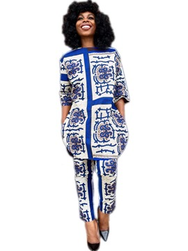 Ericdress Pocket Print Autumn Leisure Suits