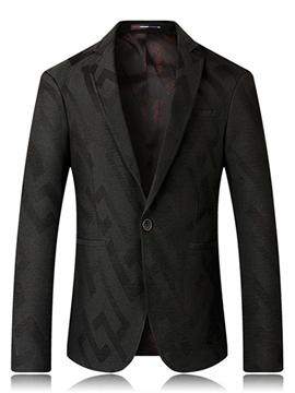 Ericdress One Button Print Slim Men's Blazer