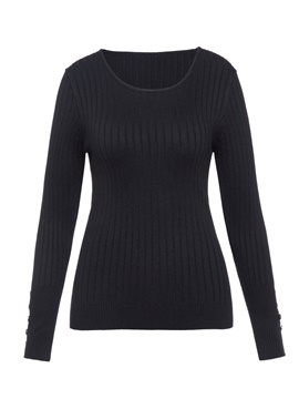 Ericdress Slim Button Pullover Knitwear