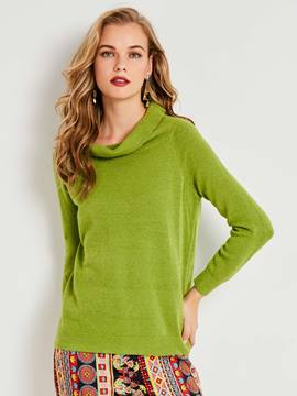 Ericdress Turtleneck Plain Pullover Knitwear