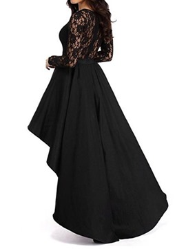 Ericdress Asymmetrical Hollow Lace Maxi Dress