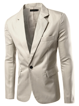 Ericdress notched Lapel Multi-Color schlank  einfache Casual Herren Blazer