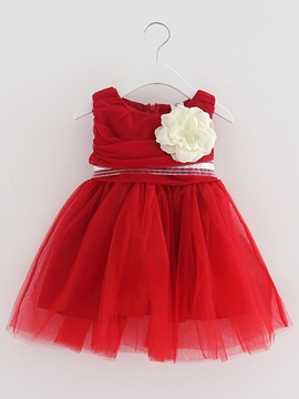 Ericdress Lace Bow Sleeveless Ball Gown Princess Girls Tutu Dress