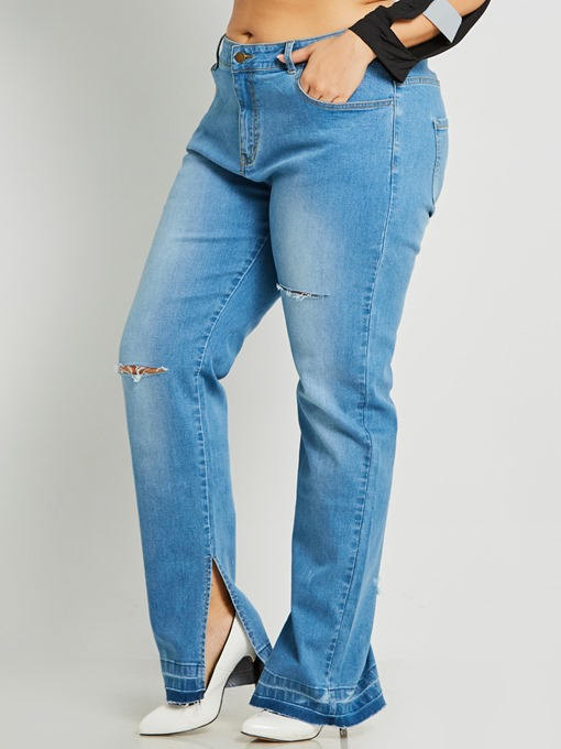 Ericdress Denim Slit Women's Jeans