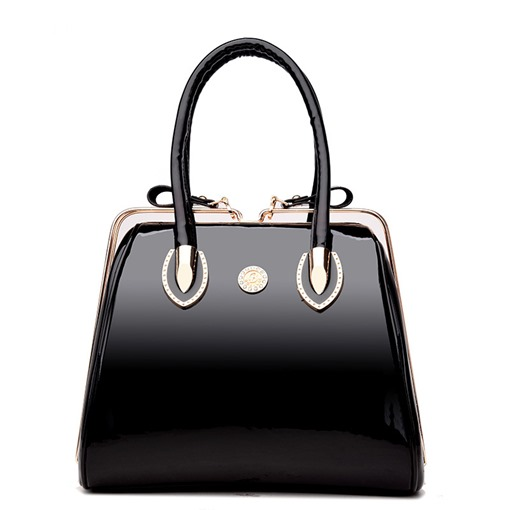 Ericdress Square Shape High End Patent Leather Handbag