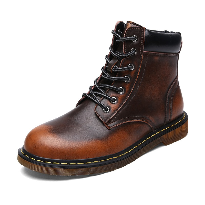 Ericdress Fashion All Match Round Toe Mens Boots