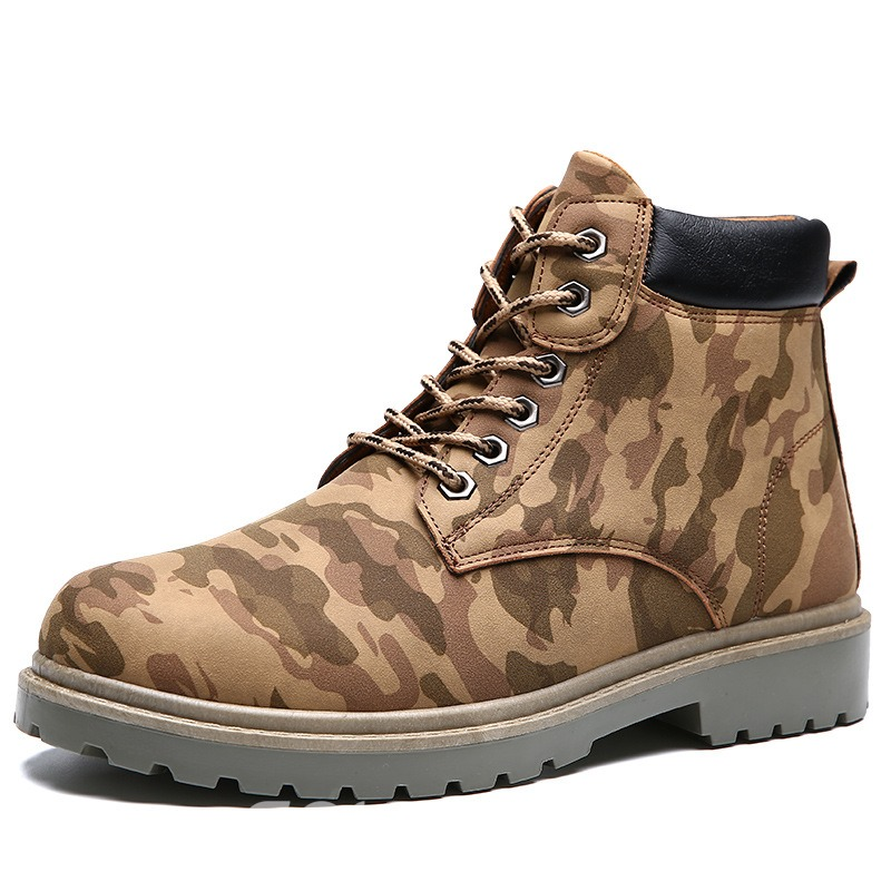 Ericdress Fashion Camouflage Lace-Up Mens Martin Boots
