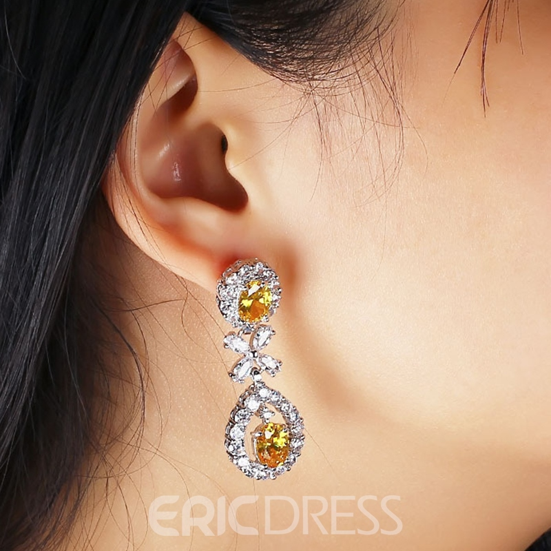 MarkChic Sparkle Topaz Diamante Women's Drop Earring