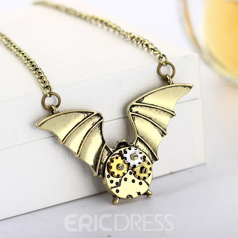 Ericdress Best Seller Bat&Gear Pendant Halloween Accessories Pendant Necklace