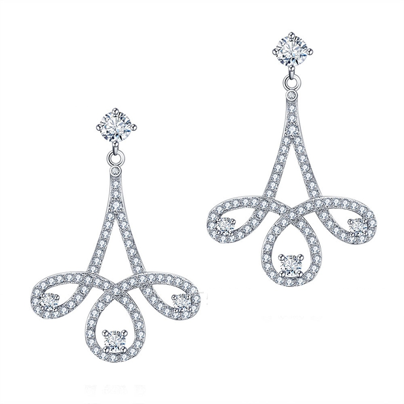 MarkChic S925 Sterling Silver Wedding Accessories Earring for Women