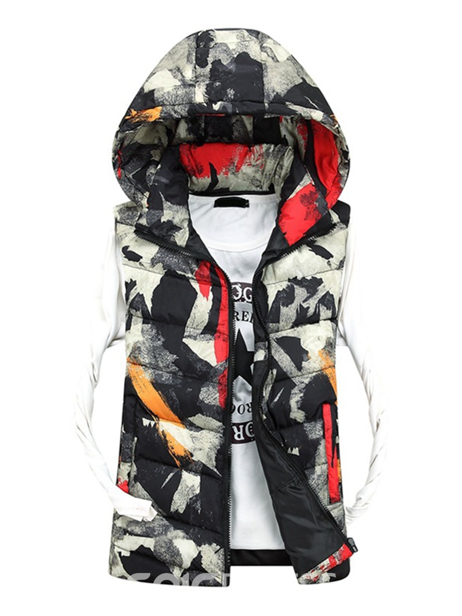 Ericdress Camouflage Print Thicken Warm Men's Vest