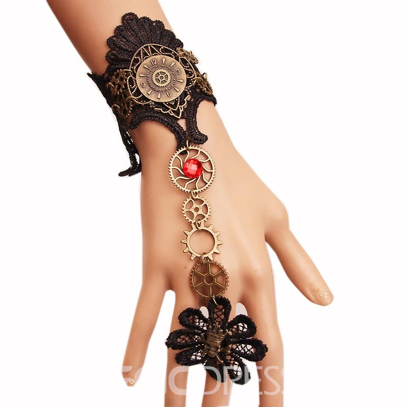 Ericdress Charming Skull Lace Halloween Bracelet for Women