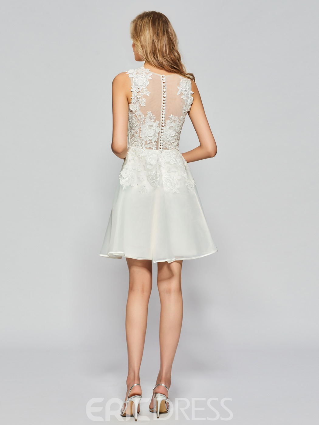 Ericdress A Line Applique Lace Short Homecoming Dress