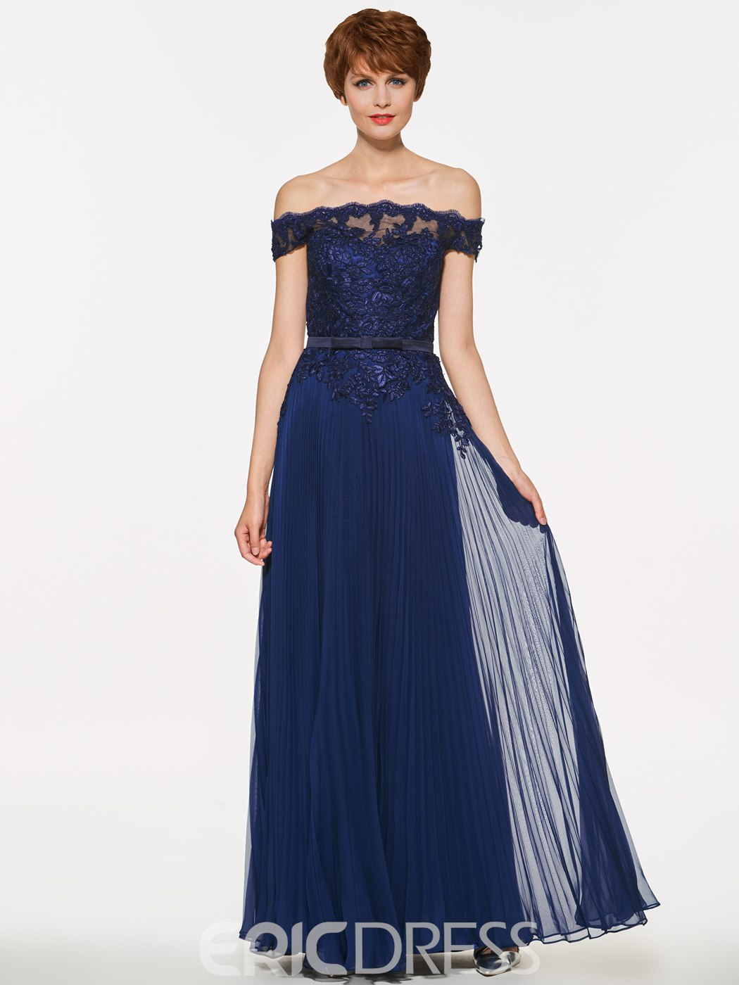 Ericdress Off The Shoulder Appliques A Line Mother Of The Bride Dress