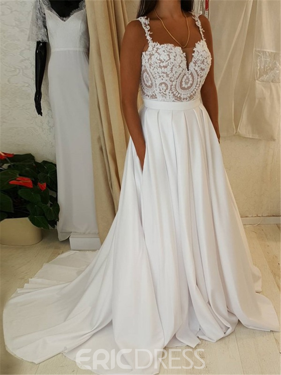 Ericdress Appliques A Line Wedding Dress