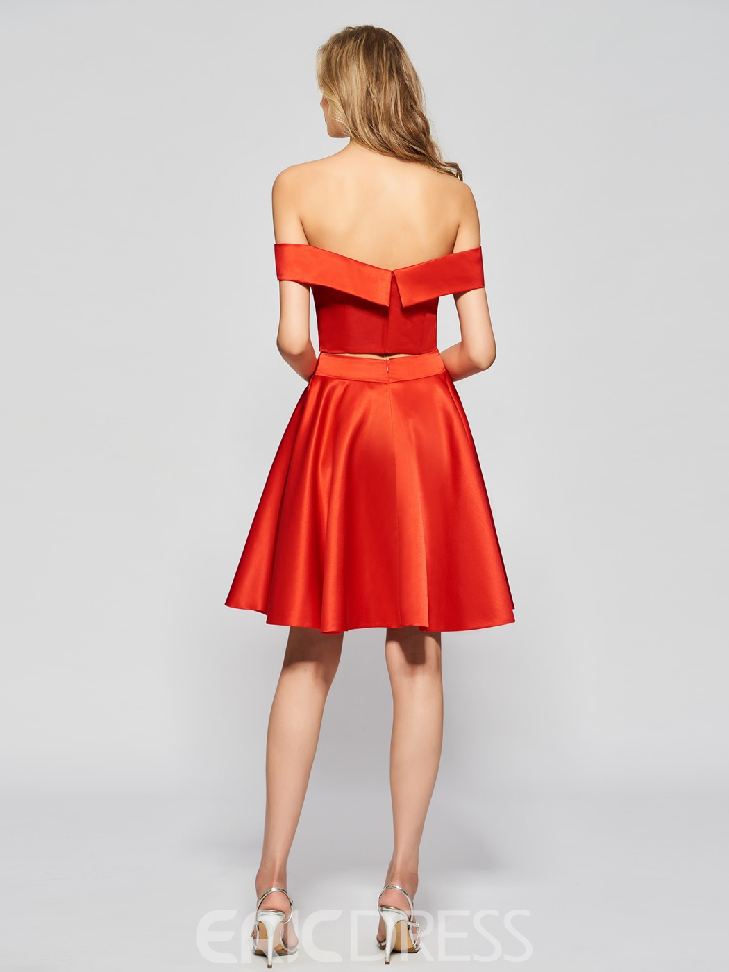 Ericdress A-Line Sweetheart Short Sleeves Empire Off-the-Shouder Homecoming Dress