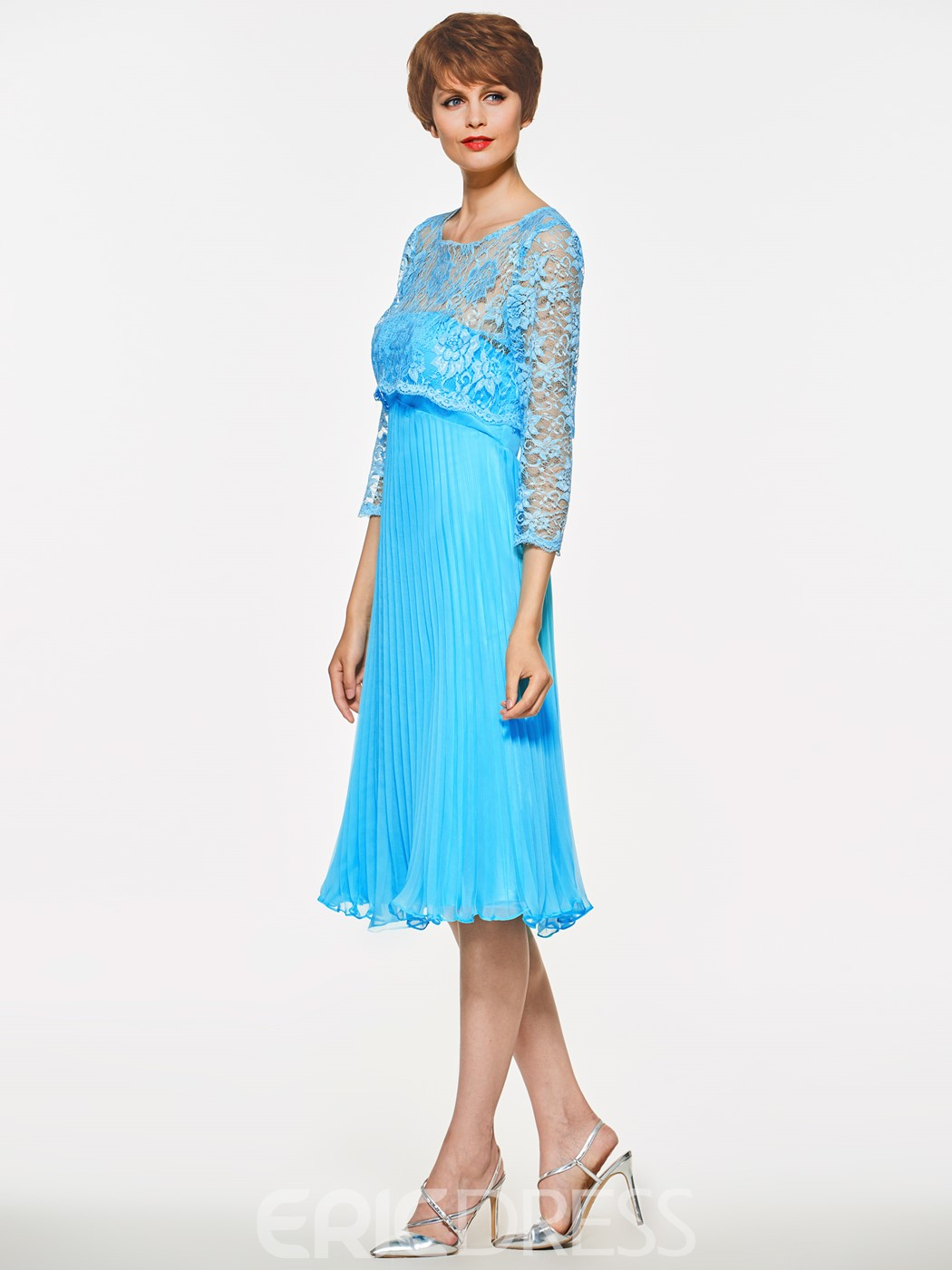 Ericdress Strapless A Line Knee Length Mother Of The Bride Dress