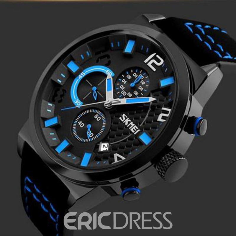 Ericdress Quartz Leather Strap Pin Buckle Men's Watch