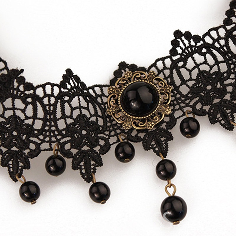 Ericdress Vintage Lace Tassel Halloween Accessories Necklace for Women