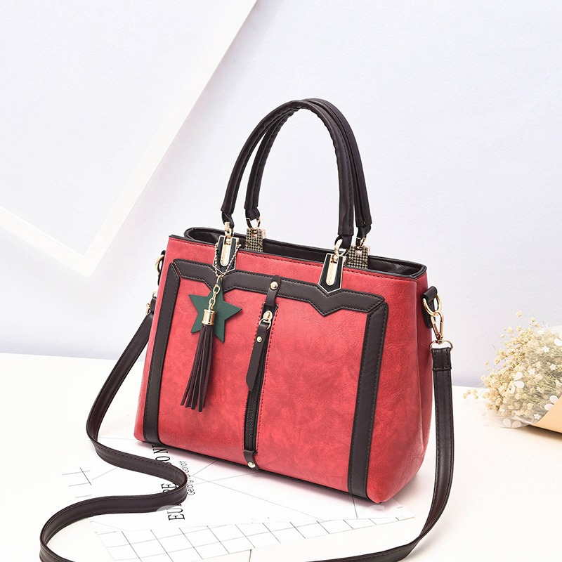 Ericdress Retro Tassel Patchwork Women Handbag