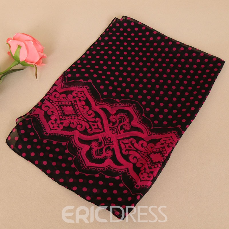 Ericdress Vintage Wave Point Scarf for Women