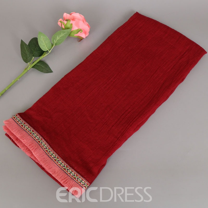 Ericdress Solild Color Autumn&Winter Scarf for Women