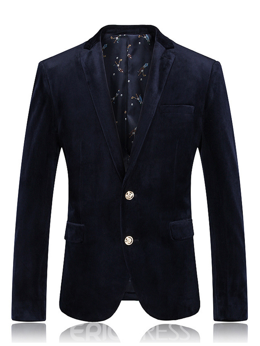 Ericdress Plain Lapel Bussiness Slim Men's Blazer