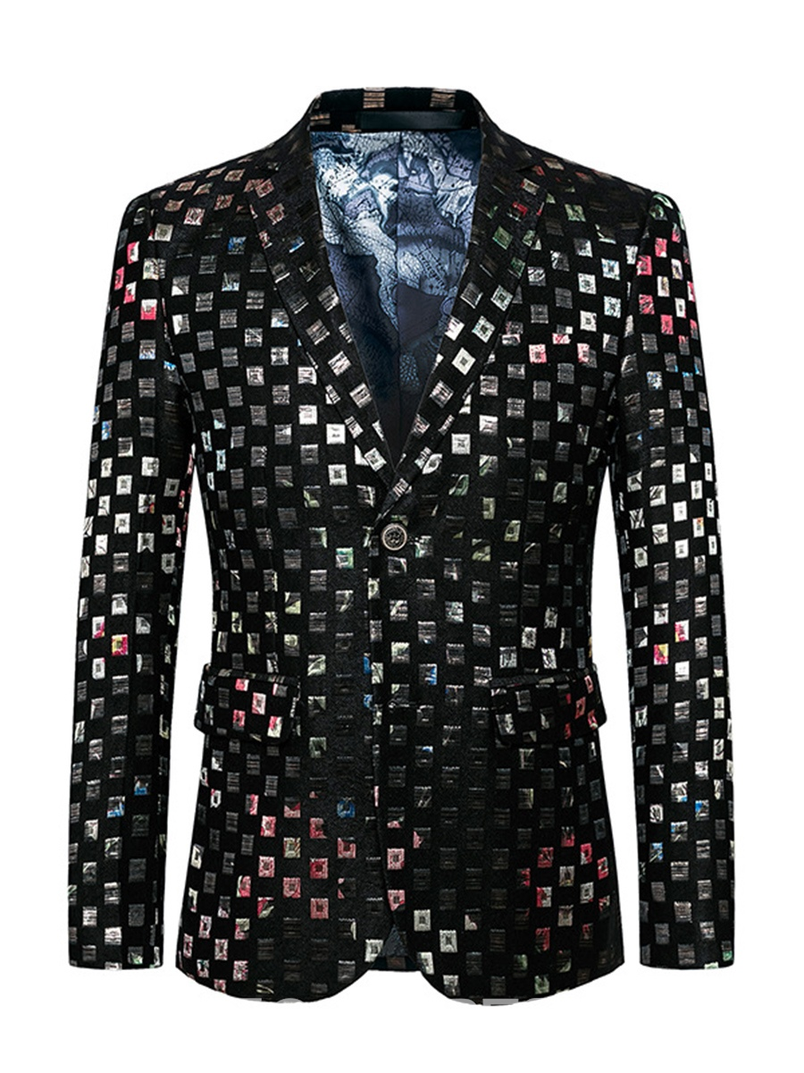 Ericdress Vogue Party Qaulity Print Men's Blazer