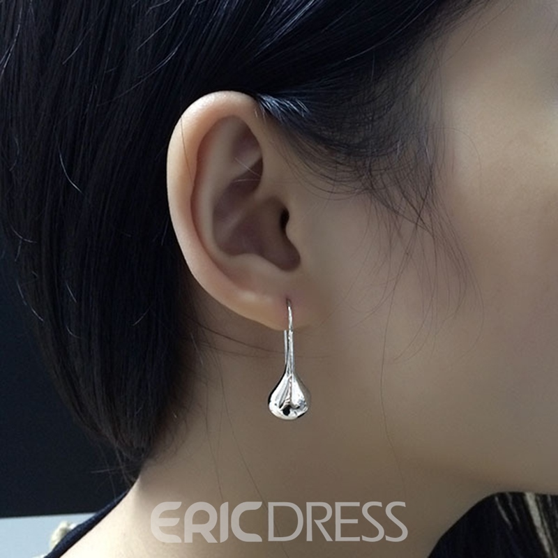 MarkChic Elegant Apricot Leaf Drop Earring for Women