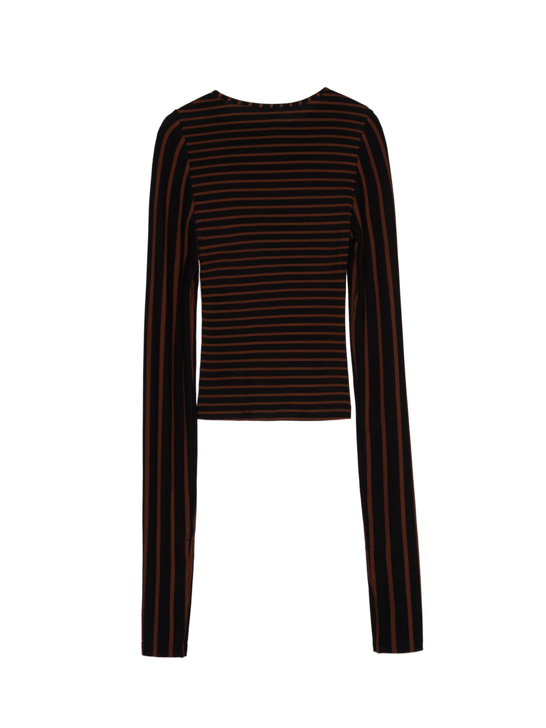 Ericdress Sheath Color Block Stripe T-shirt