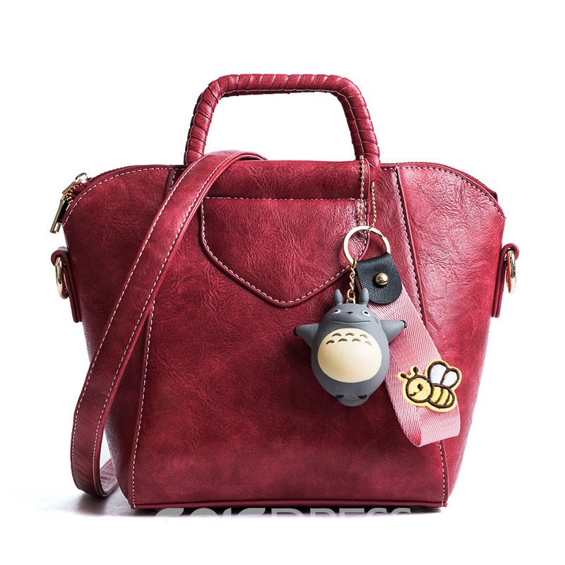 Ericdress Casual Solid Color Cartoon Pendant Handbag