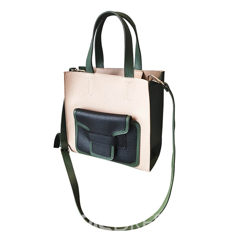 Ericdress Preppy Chic Color Block Crossbody Bag