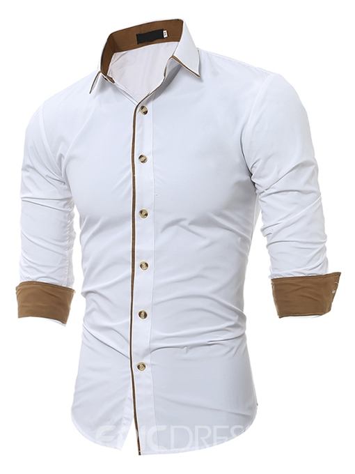 Ericdress Unique Slim Men's Shirt