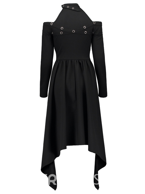 Ericdress Halloween Asymmetric Slash Neck Choker A-Line Women's Dress
