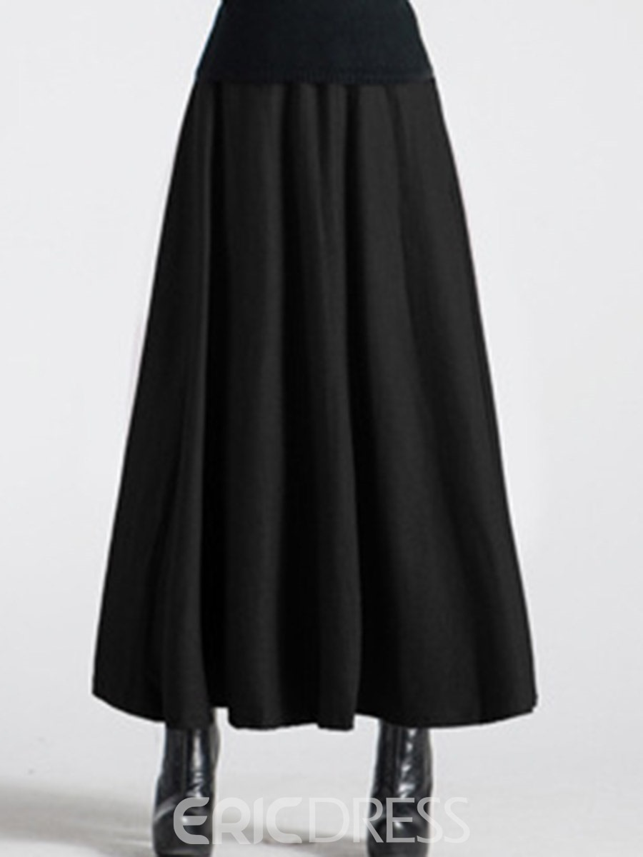 Ericdress Pleated Plain Ankle-Length Usual Skirts