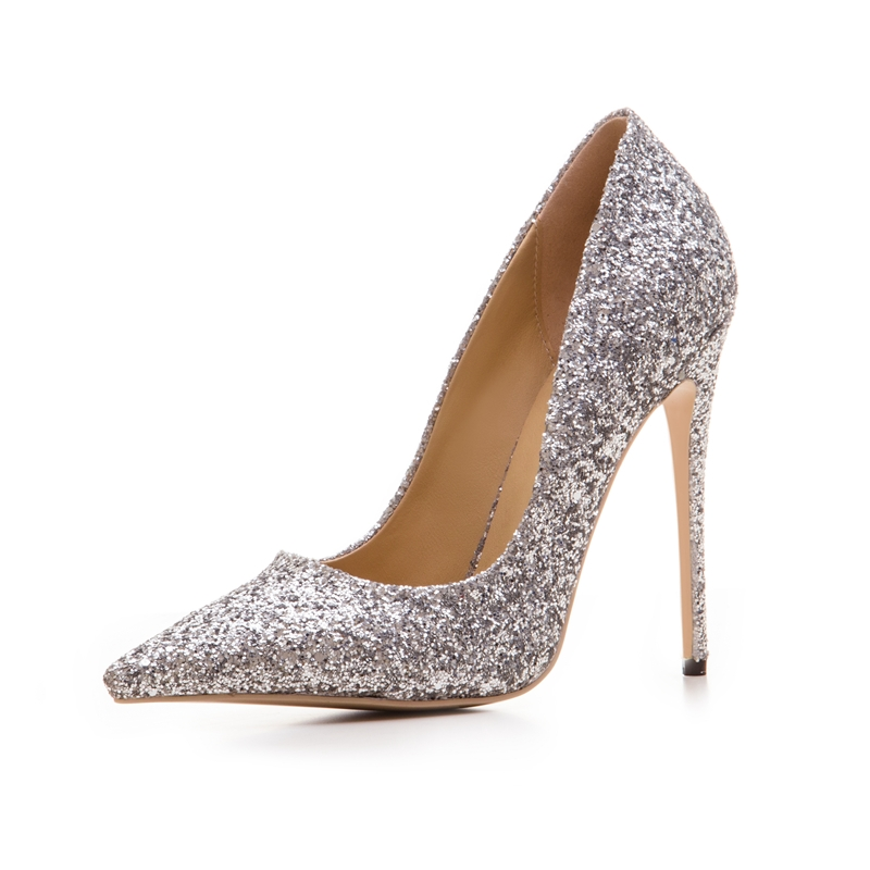 Ericdress Glitter Sequin Slip-On Plain Stiletto Heel Pumps