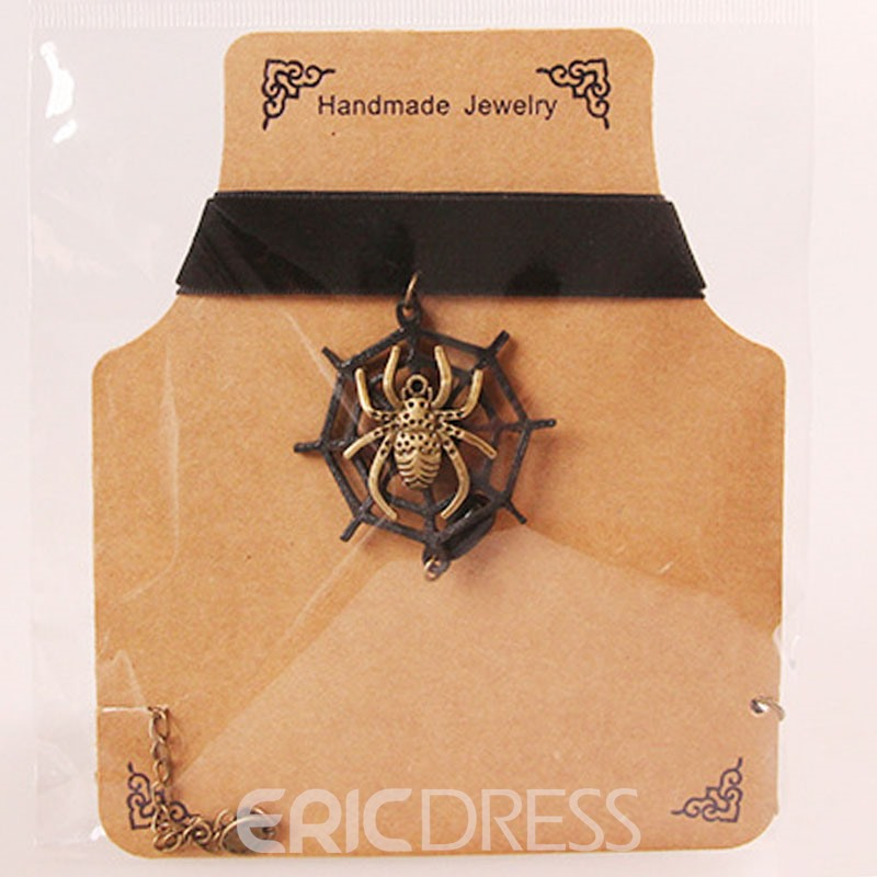 Ericdress Vintage Spider Pendant Halloween Accessories Women's Choker