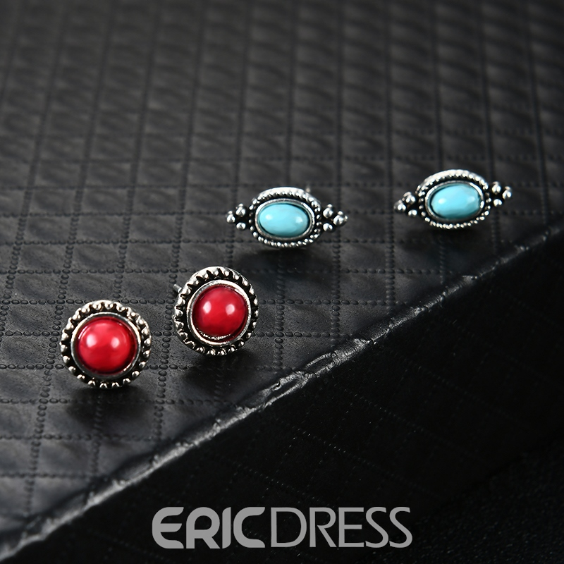 Ericdress Vintage Turquoise Diamante Jewelry Set for Women