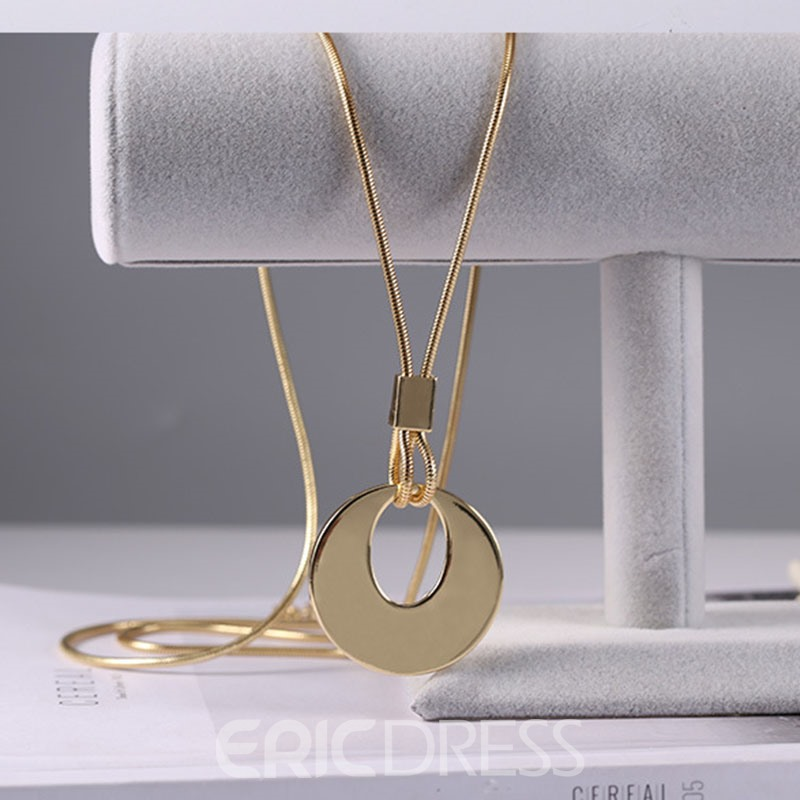 Ericdress Concise Solid Color Long Pendant Necklace